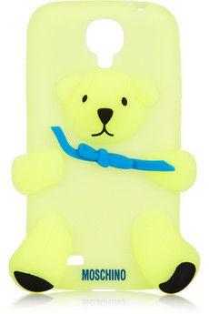 Moschino Gennarino bear glow-in-the-dark Samsung Galaxy S4 cover | NET-A-PORTER