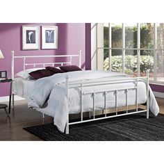 August Grove Christie Wrought Iron Bed & Reviews | Wayfair