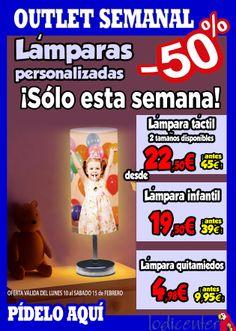 Promoción lámparas personalizadas al 50%