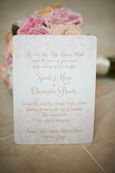 Pretty in Pink Invitations from Sixpence Press | Charleston Wedding