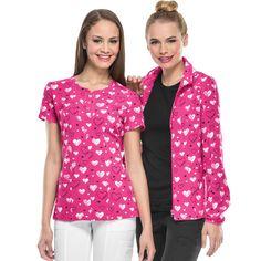 Love U Forever Print Top and Jacket. Fashionable Scrubs, Love U Forever, Nurse Life, Nursing, Medical, Blouse, Jackets, Tops, Women