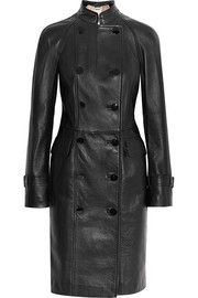 Alexander McQueen Double-breasted leather coat