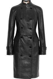 Alexander McQueenDouble-breasted leather coat