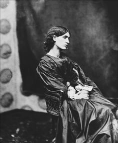 John Robert Parsons: Jane Morris in London, 1865. Born Jane Burden, she was muse and lover to Dante Gabriel Rossetti and the wife of William Morris.