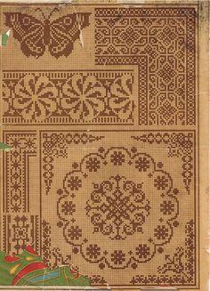Antique butterfly and mandalla Cross Stitch Borders, Cross Stitch Samplers, Cross Stitch Flowers, Cross Stitch Charts, Cross Stitch Designs, Cross Stitching, Cross Stitch Patterns, Filet Crochet Charts, Crochet Cross
