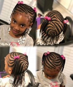 Box Braids Hairstyles for Kids 2018 Braids are always attractive and appear beautiful. But styling your hair with one or two braids seems banal. And kids always love style and beauty in their… Baby Girl Hairstyles, Kids Braided Hairstyles, Box Braids Hairstyles, Hairstyles Haircuts, Summer Hairstyles, Hairdos, Black Hairstyles, Hairstyle Ideas, Kids Hairstyle