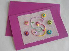 Kinderkaart 'Five' van FromHelloToGoodbye op Etsy