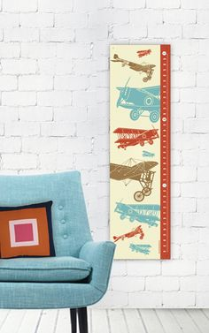 Airplane Growth Chart - Height Chart. $35.00, via Etsy.      I'm gonna get this for Nick's new room :)
