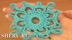 How To Crochet Squares Урок 7 часть 1 из 2 Мотивы и соединение их в полотно
