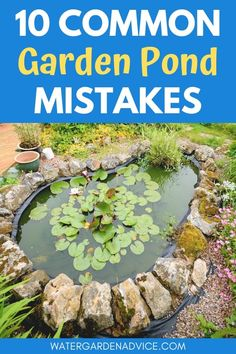 Garden pond mistakes - Here are 10 things to avoid when building a new backyard pond. Outdoor Fish Ponds, Small Backyard Ponds, Backyard Water Feature, Backyard Waterfalls, Koi Ponds, Patio Pond, Diy Pond, Pond Landscaping, Tropical Landscaping
