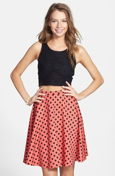 Painted Threads Knit A-Line Skirt (Juniors) (Online Only) | Nordstrom $28