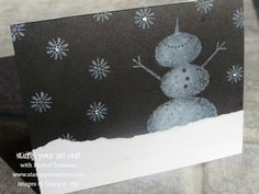Stampin' Up!® The Snow Is Falling! Black & White Snow Day stamp set card to celebrate the first big snowfall of the year - Stamp Your Art Out! www.stampyourartout.com
