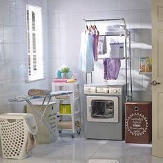 Aprovechemos el espacio de nuestra lavadora para tender nuestra ropa. ¡Todo al mismo tiempo! #Sodimac #Homecenter.