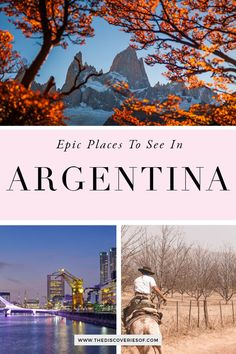 Unmissable Argentina travel destinations for your South America bucket list. From Patagonia to Iguazu Falls Mendoza and Salta these are the most awesome places in Argentina to soak up the culture food and art of this gorgeous country. Read now Places To Travel, Places To See, Travel Destinations, Holiday Destinations, Solo Travel, Travel Usa, Peru Travel, Travel Around The World, Around The Worlds