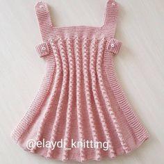 Çok Harika Tığ İşi Oya Modelleri Baby Girl Cardigans, Knit Baby Dress, Baby Knitting Patterns, Crochet Baby, Dresses, Instagram, Fashion, Crochet Patterns Baby, Baby Knits