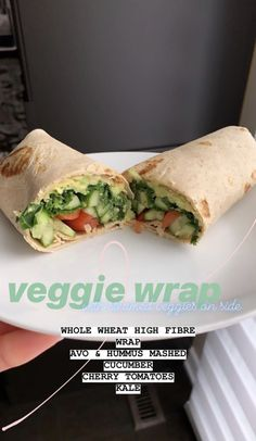 Curated by . - Curated by 🖤 BODY * Food Diet * Veggie Wrap * Lun… - health activities health care health ideas health tips healthy meals Think Food, I Love Food, Good Food, Yummy Food, Tasty, Vegetarian Recipes, Snack Recipes, Cooking Recipes, Healthy Recipes