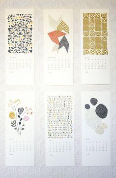 2012 calendar by Leah Duncan
