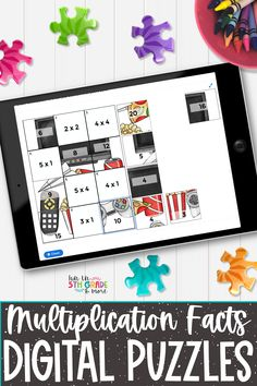 Multiplication facts digital puzzles are a great way to practice