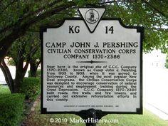 Camp John J. Pershing--Civilian Conversation Corps--Company 1370-2386 KG-14 | Marker History