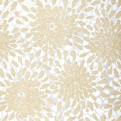 Bold dahlia blossoms and metallic details bring visual interest to this chic wallpaper, perfect for highlighting your entryway or powder room decor.