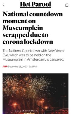 New Years Eve, Amsterdam, In This Moment, News