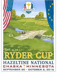 Official Ryder Cup 2016 poster by Lee Wybranski. #golf #rydercup #sport #sports http://ift.tt/2cEQTlt