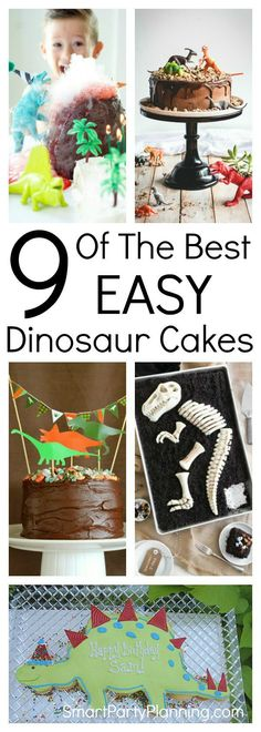 Learn how to make easy dinosaur cakes for a birthday the kids will remember forever. With simple ideas and tutorials, you will have just as much fun making the cake as the kids will eating it. It's easier than you think to make an impressive DIY cake. #Dinosaur #Cakes #Birthday #Kids
