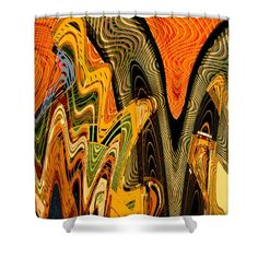 Exotica Abstract #1 Shower Curtain by Regina Geoghan
