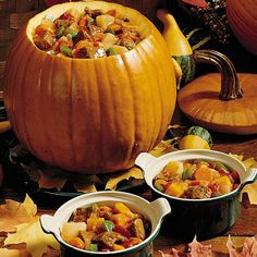 After our kids carve their Halloween pumpkins, I use the discarded pieces in this savory pumpkin stew. My family eagerly looks forward to it every year. —Christine Bauer, Durand, Wisconsin More Pumpkin Stew Recipes Fall Recipes, Holiday Recipes, Soup Recipes, Dinner Recipes, Cooking Recipes, Fresh Pumpkin Recipes, Cooking Tips, Pumpkin Stew, A Pumpkin