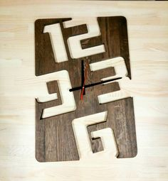 Big size Wood Wall Clock Wooden clock handmade scroll saw clock birthday gift gift for husband gift for wife wooden wall clock Wall Clock Wooden, Wood Clocks, Wooden Walls, Clock Wall, Wall Wood, Woodworking Patterns, Woodworking Crafts, Woodworking Vise, Diy Home Crafts