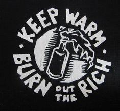 Class Struggle activist patch punk DIY Revolution Anarchist. $2.50, via Etsy.