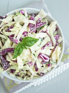 Cole Slaw with Basil from I Breathe Im Hungrys 25 Recipes that Celebrate Summer (Low Carb and Gluten Free) - ibreatheimhungry.com