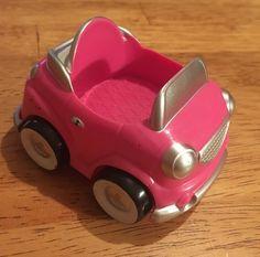 Minnie Mouse Car Toy Mini Small Plastic Pink #Mattel