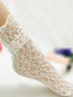 bf31cc076 Girls Lace Ruffle Frilly Ankle Socks Lace Socks
