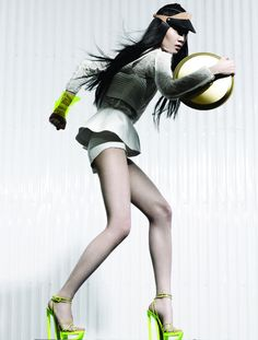 Fashion Magazine Canada August 2012 is inspired by sport. The editorial was photographed by Moo King and features model Ishie W.