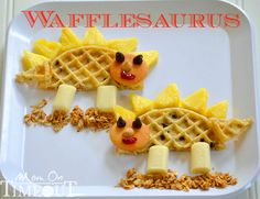Wafflesaurus | Mom On Timeout - The perfect afternoon snack for dinosaur-loving kids!
