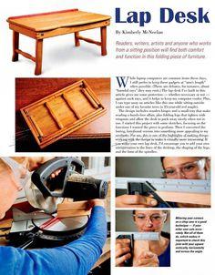Laptop Desk Plans - Furniture Plans and Projects - Woodwork, Woodworking, Woodworking Plans, Woodworking Projects Furniture Plans, Diy Furniture, Woodworking Plans, Woodworking Projects, Sitting Positions, Desk Plans, Lap Desk, Laptop Computers, Home Projects