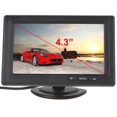 2016 Hot Koop 4.3 Inch 480x272 Kleur TFT LCD Auto Achteruitrijcamera Monitors