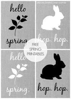 Love the neutrals. Easter Printables, Free Printables, Easter Arts And Crafts, Subway Art, Hello Spring, Creations, Art Ideas, Decor Ideas, Repurpose