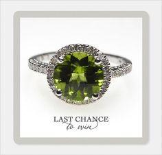 Win A Peridot & Diamond Engagement Ring