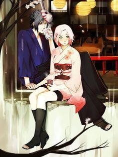 Sasusaku - Mission Break (Sakura x Sasuke) Artwork by arriku