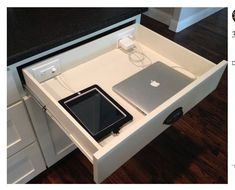 Hide power using gadgets out of the way. Main things to have a storage place.