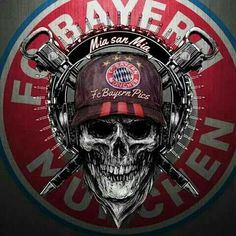 FC Bayern Soccer Art, Soccer Logo, Creative Art, Creative Design, Equipement Football, Germany Football, Baba Image, Fc Bayern Munich, Neymar Jr