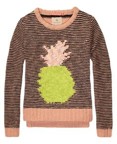colourful knitted crew neck pull | Pullover | Girls Clothing at Scotch & Soda
