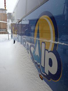Des chutes de #neige à Serre Chevalier n'arrêteront pas les #autocars #Resalp de #Briancon