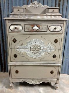 "Restore the beauty of a ""cosmetically challenged"" old dresser."
