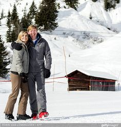 The Dutch Royals skiing holiday on February 23, 2015 in Lech, Austria. (Dutch royal family have spent their winter vacations since 1959)