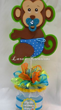 Jungle Safari party centerpiece. Baby Shower by LarasCreationsShop