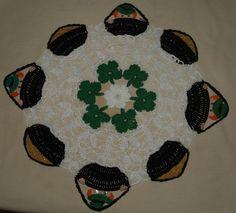 St. Patrick's Day Leprechaun & Pots of Gold Crochet Doily Pattern. $4.95, via Etsy.