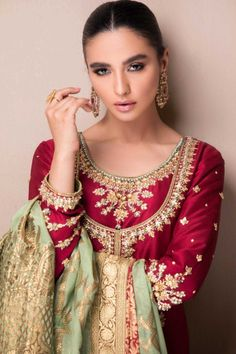 Shadi Dresses, Pakistani Formal Dresses, Pakistani Wedding Dresses, Pakistani Dress Design, Pakistani Outfits, Indian Dresses, Nikkah Dress, Mehendi Outfits, Designer Party Wear Dresses